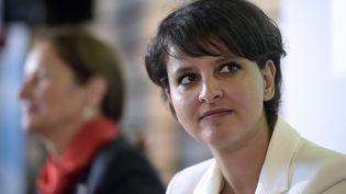 La ministre de l'Education nationale, Najat Vallaud-Belkacem, visite une école du Bourget (Seine-Saint-Denis), le 6 mai 2015. (LIONEL BONAVENTURE / AFP)