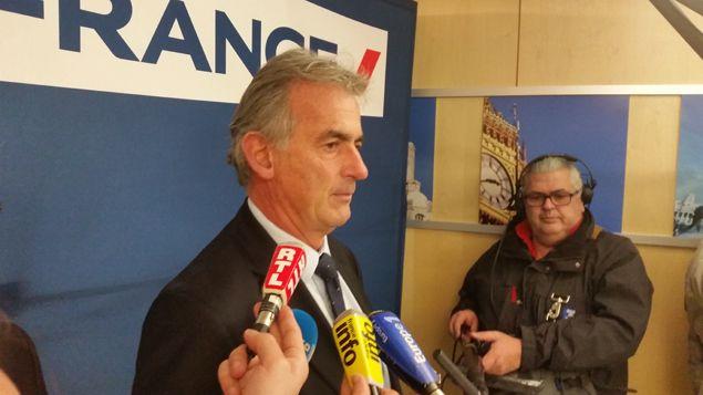 (Frédéric Gagey, PDG d'Air France, a donné une conférence de presse dimanche après-midi © Radio France / Nicolas Mathias)