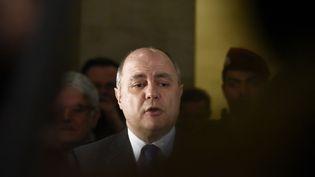 Le ministre de l'Intérieur Bruno Le Roux, le 3 février 2017 à Paris. (PATRICE PIERROT / CITIZENSIDE / AFP)