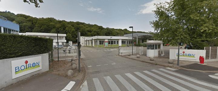 L'entrée du site de Boiron à Sainte-Foy-lès-Lyon (Rhône), où est hébergé le Centre de formation en homéopathie, en août 2017. (GOOGLE STREET VIEW / FRANCEINFO)