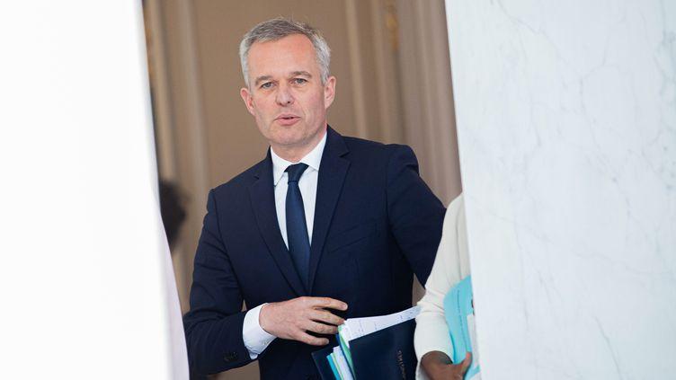 François de Rugy à la sortie du conseil des ministres, le 10 juillet 2019. (CHRISTOPHE MORIN / MAXPPP)