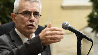 Yves Veyrier, secrétaire général de Force ouvrière à Matignon, le 5 septembre 2019. (BERTRAND GUAY / AFP)