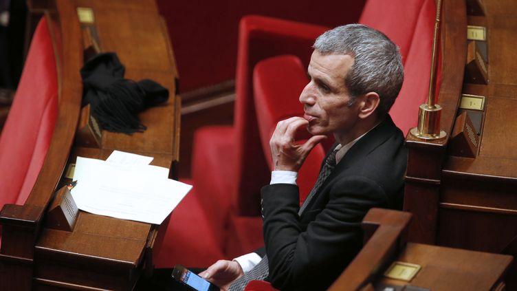 Le député socialiste de l'Essonne Malek Boutih, à l'Assemblée nationale, à Paris, le 7 février 2013. (PIERRE VERDY / AFP)