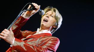David Bowie en septembre 2002, au Zenith à Paris  (MARTIN BUREAU / AFP)