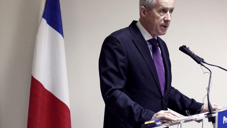 François Molins, procureur de la République de Paris, lors d'une conférence de presse, à Paris, le 3 avril 2012. (THOMAS COEX / AFP)
