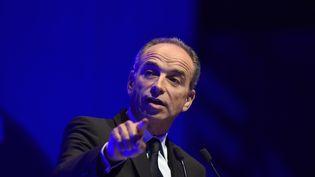 """Jean-François Copé s'exprime à l'occasion du salon """"Planète PME"""", le 17 octobre 2016 à Paris. (ALAIN JOCARD / AFP)"""