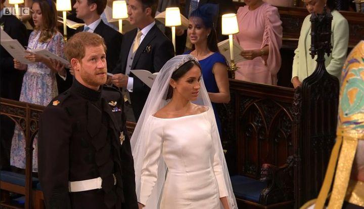 Harry et Meghan, une dernière prière chantée durant le mariage  (Capture écran BBC)