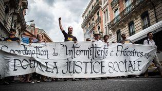 Manifestation d'intermittents à Toulouse le 16 juin 2014  (LANCELOT FREDERIC/SIPA)