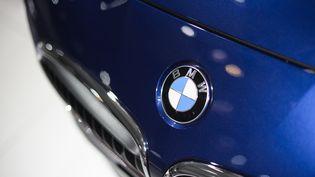 Exposition d'une BMW au salon automobile européen de Bruxelles (Belgique), le 14 janvier 2015 (LAURIE DIEFFEMBACQ / BELGA MAG / AFP)