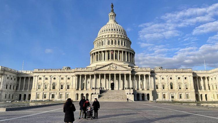 Le Capitole, qui abrite le Sénat américain, le 29 décembre 2020 à Washington. (DANIEL SLIM / AFP)