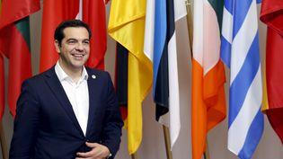 Le Premier ministre grec, Alexis Tsipras, lors du sommet de la zone euro, à Bruxelles (Belgique), le 7 juillet 2015. (FRANCOIS LENOIR / REUTERS)