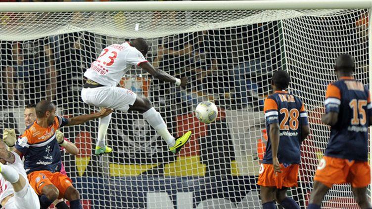 Pape Souare buteur contre Montpellier (PASCAL GUYOT / AFP)