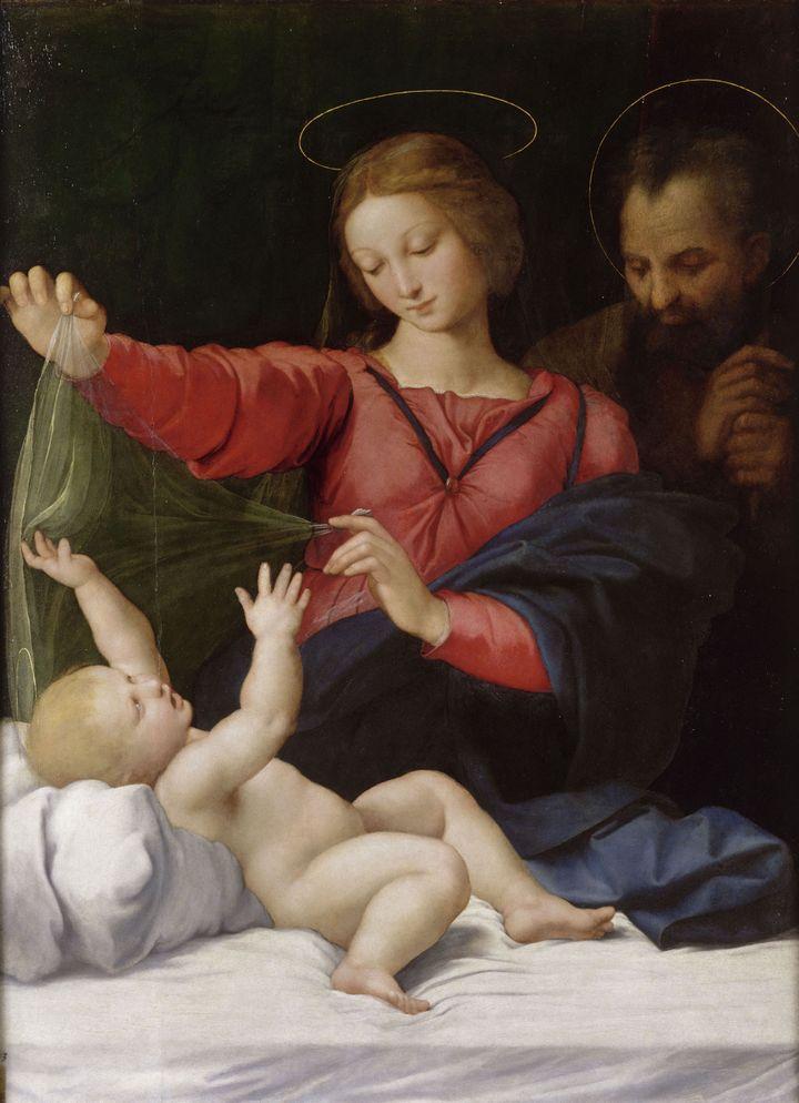 La Madone de Lorette - Raffaello Sanzio, dit Raphaël (Urbino, 1483 - Rome, 1520) - Huile sur bois - Chantilly, musée Condé (RMN - GRAND PALAIS - DOMAINE DE CHANTILLY - HARRY BREJAT)