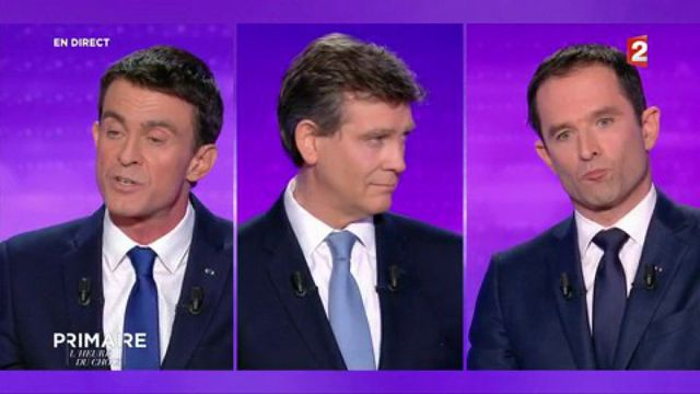 Hamon se fait attaquer par Valls sur le revenu universel