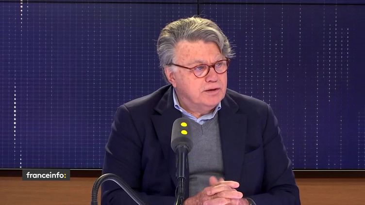 Gilbert Collard le jeudi 4 avril 2019 sur franceinfo. (FRANCEINFO / RADIOFRANCE)