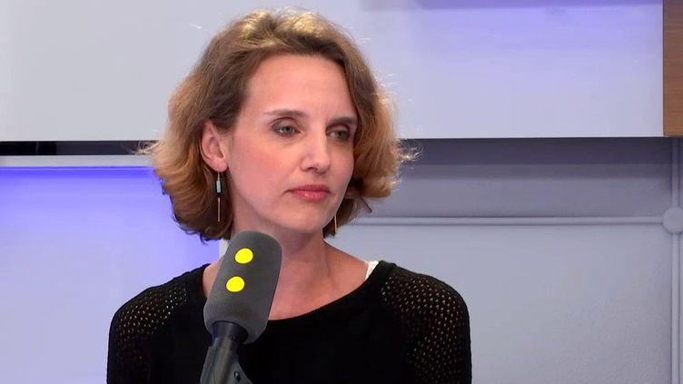 """Céline Calvez, députée La République en marche des Hauts-de-Seine, était l'invitée de """"Tout est politique"""", vendredi 2 mars 2018, sur franceinfo. (FRANCEINFO)"""
