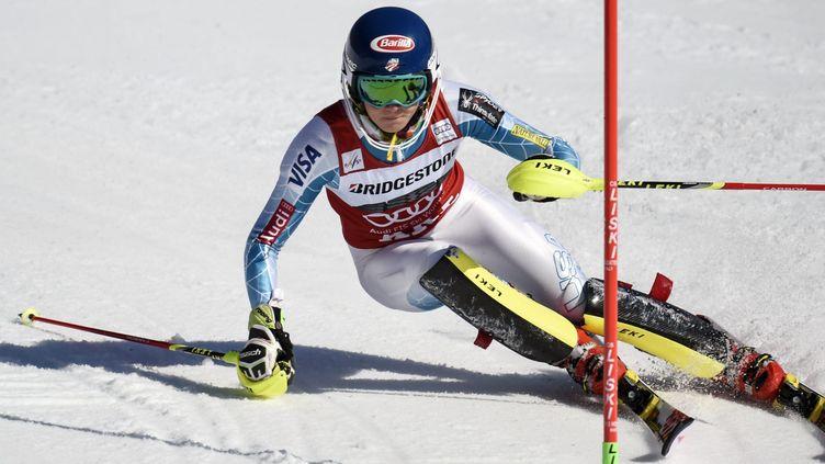 Mikaela Shiffrin n'a pas eu de rivale ce samedi en Suède (PONTUS LUNDAHL / TT NEWS AGENCY)