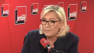 Marine Le Pen, le 11 février 2019, sur France Inter. (FRANCE INTER)