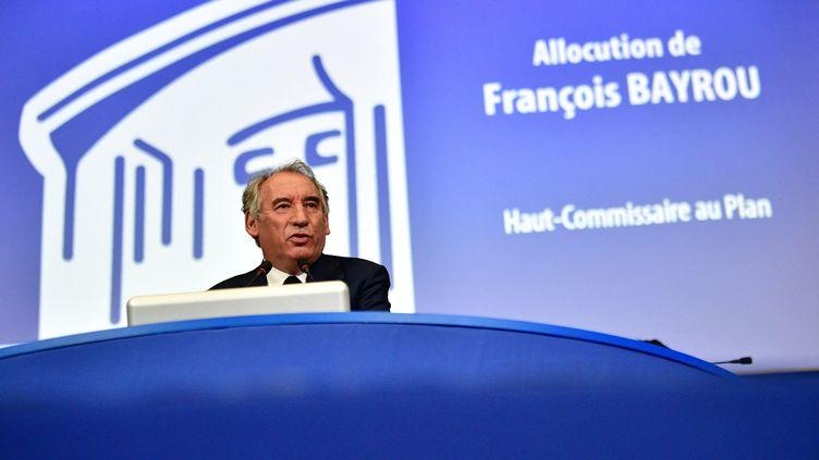 Le Haut-Commissaire au plan François Bayrou le 22 septembre 2020 à Paris. (MARTIN BUREAU / AFP)