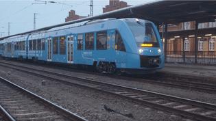 Le train à hydrogène d'Alstom vendu en Basse-Saxe lors d'une vidéo de présentation. (RADIO FRANCE / CAPTURE D'ÉCRAN)