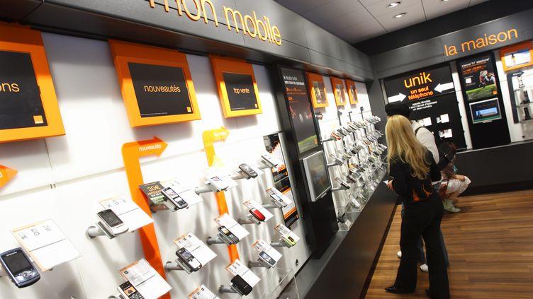 Une boutique Orange à Nantes (Loire-Atlantique), en septembre 2007. (BERTRAND BECHARD / MAXPPP)