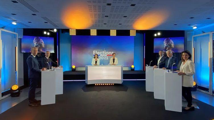 Le débat des principaux candidats dans la région Pays de la Loire, le 9 juin 2021. (FRANCE 3 PAYS DE LA LOIRE)