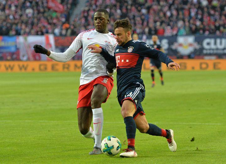 Ibrahima Konaté avec Leipzig contre le Bayern Munich (JAN KUPPERT/SVEN SIMON / SVEN SIMON)