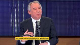 François Bayrou, haut-commissaire au Plan et président du MoDem, était l'invité de franceinfo jeudi 8 avril 2021. (FRANCEINFO / RADIO FRANCE)