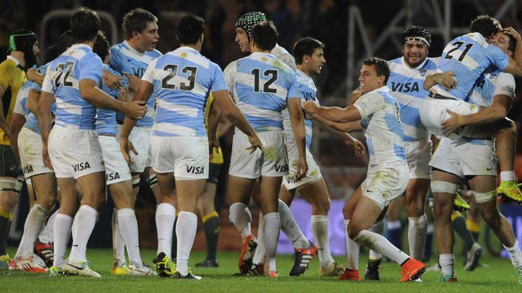 La joie des joueurs argentins