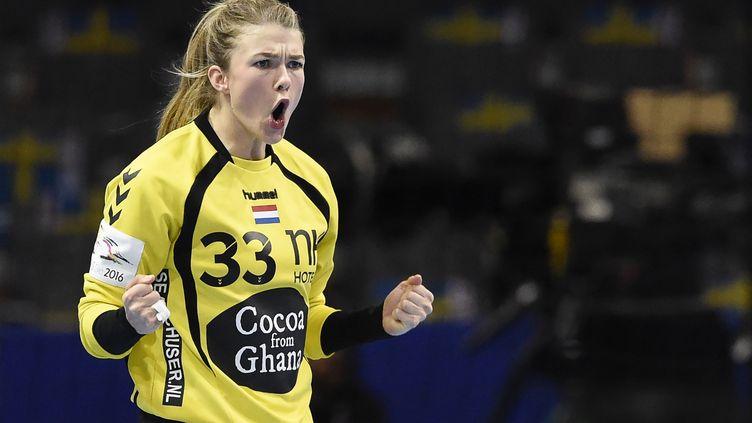 Tess Wester et les Néerlandaises sont en finale de l'Euro (JONATHAN NACKSTRAND / AFP)