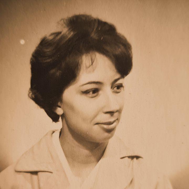 Katia Berrangersurune photo prise dans les années 1960,transmise à franceinfo par ses proches. (DR)