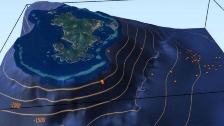 Cartographie d'essaim de séismes à Mayotte. (SAID HACHIM)