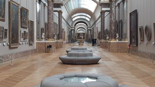La grande galerie du Louvre, le 24 juin 2020. (ANNE CHÉPEAU / RADIOFRANCE)