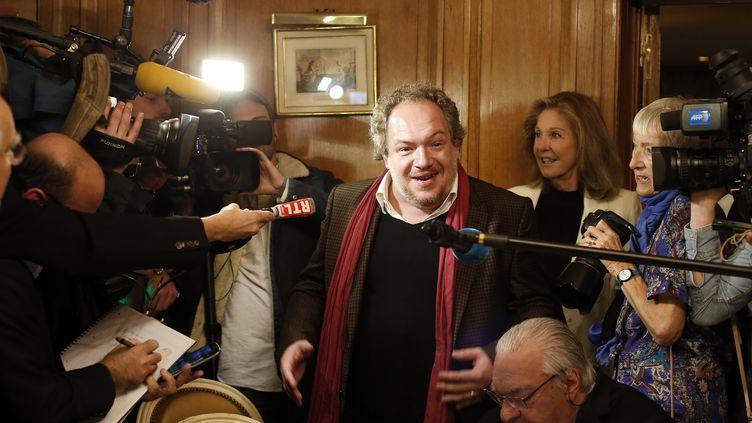 """Mathias Enard Goncourt 2015 pour """"Boussole"""" (Actes Sud) sera à Brive pour la 34e édition de la Foire du Livre  (THOMAS SAMSON / AFP)"""