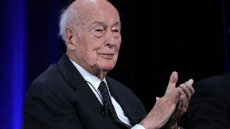 L'ancien président de la République Valéry Giscard d'Estaing, le 20 juin 2019, lors du 50e anniversaire de l'élection de Georges Pompidou. (JACQUES DEMARTHON / AFP)
