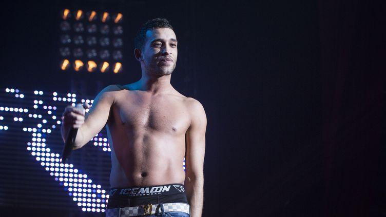 Le rappeur Mister You en 2013 sur la scène du Bataclan (ALIX WILLIAM/SIPA)