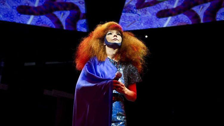 Björk en concert à Manchester le 30 juin dernier  (CWA/WENN.COM/SIPA)