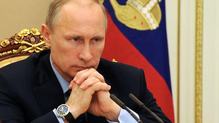 Le président russe Vladimir Poutine, le 28 mai 2014 à Moscou (Russie). (MIKHAIL KLIMENTYEV / RIA-NOVOSTI)