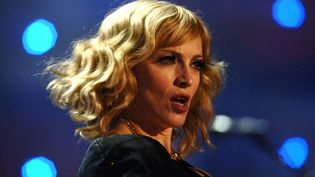 Madonna au stade de Wembley, au nord-ouest de Londres (Royaume-Uni), le 7 juillet 2007. (ANTHONY HARVEY / AP / SIPA)