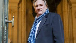 """Le comédien Gérard Depardieu le 25 juin 2018 à Bruxelles où une cérémonie a été organisée en son honneur à l'occasion d'une projection des """"Valseuses"""" (DAINA LE LARDIC / ISOPIX / SIPA)"""