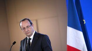 Le président de la République François Hollande, le 23 février 2013 à Paris. (THIBAULT CAMUS / AFP)