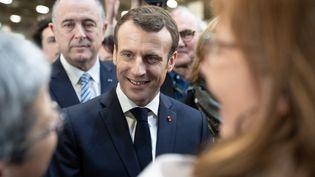 Emmanuel Macron au Salon de l'agriculture, samedi 23 février 2019 à Paris. (CONSTANT FORME-BECHERAT / HANS LUCAS / AFP)