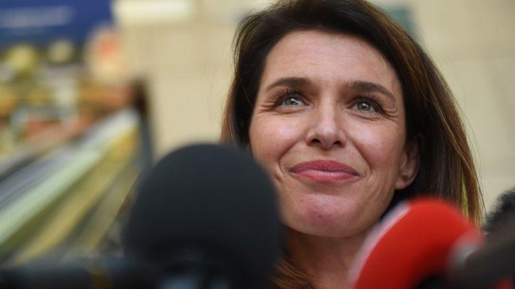 Christelle Morançais, à Nantes, le 27 juin 2021, après sa réelection comme présidente du conseil régional des Pays de la Loire. (JEAN-FRANCOIS MONIER / AFP)