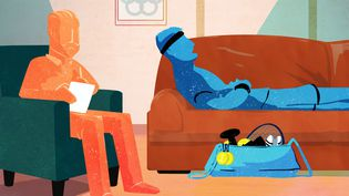 Image d'illustration d'un sportif de haut niveau qui consulte un psychologue. (PIERRE-ALBERT JOSSERAND / FRANCEINFO)