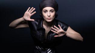 La chanteuse Barbara Pravi le 3 février 2021 à Paris (JOEL SAGET / AFP)