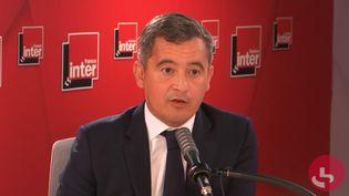 Le ministre de l'Intérieur Gérald Darmanin invité de France Inter le 8 septembre 2021. (CAPTURE ECRAN / FRANCE INTER)