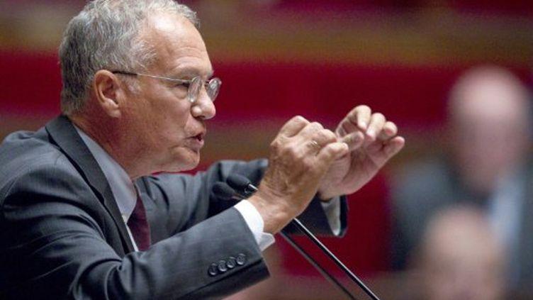 Le rapporteur général de la commission des finances à l'Assemblée nationale, Gilles Carrez, en septembre 2011 (AFP PHOTO JOEL SAGET)
