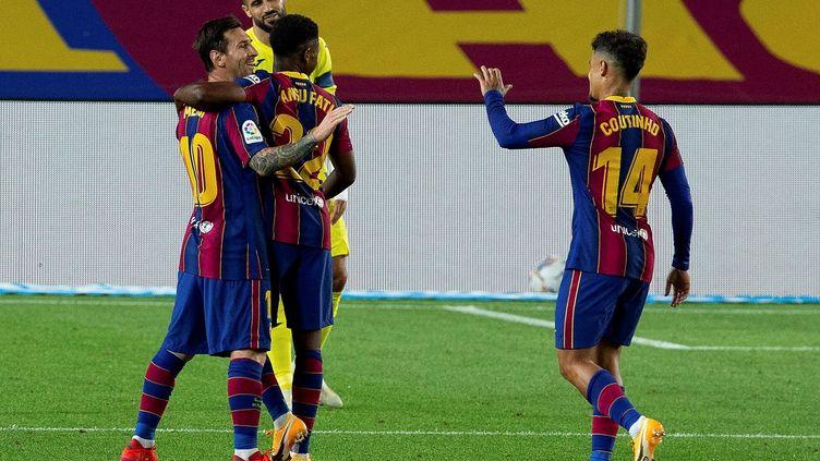 Messi, Coutinho et Fati ont été décisifs ce soir (ENRIC FONTCUBERTA / EFE)