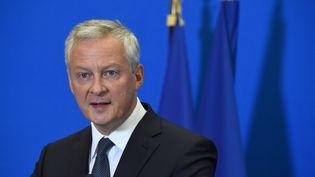 Le ministre de l'Economie, Bruno Le Maire, lors d'une conférence de presse à Paris, le 30 août 2021. (ERIC PIERMONT / AFP)