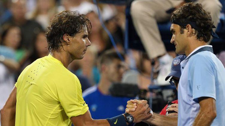 Rafael Nadal s'est rappelé aux bons souvenirs de Roger Federer (RONALD MARTINEZ / GETTY IMAGES NORTH AMERICA)